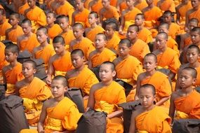 Buddhist group on meditation