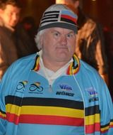 man in special clothing of Belgian cycling team