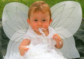 Baby in an angel costume