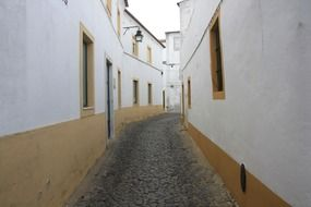 narrow street in the city of empedrado