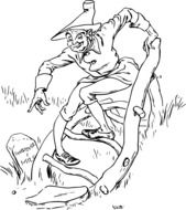 clipart of the crooked man
