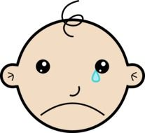 clipart of the crying baby