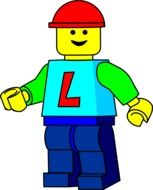 Colorful man made of the lego clipart