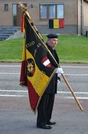old man with Belgian flag