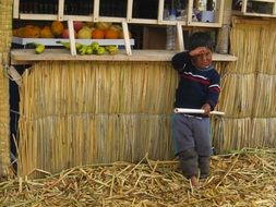 peru boy at the straw barn