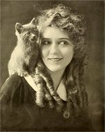 Mary Pickford actress with a cat