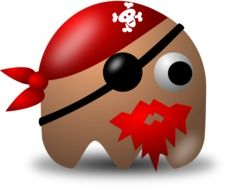 drawn pirate from pacman video game