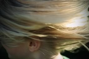 blonde hair girl abstract flip