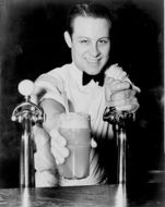 black and white portrait of a bar men