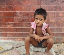 the beggar child,India