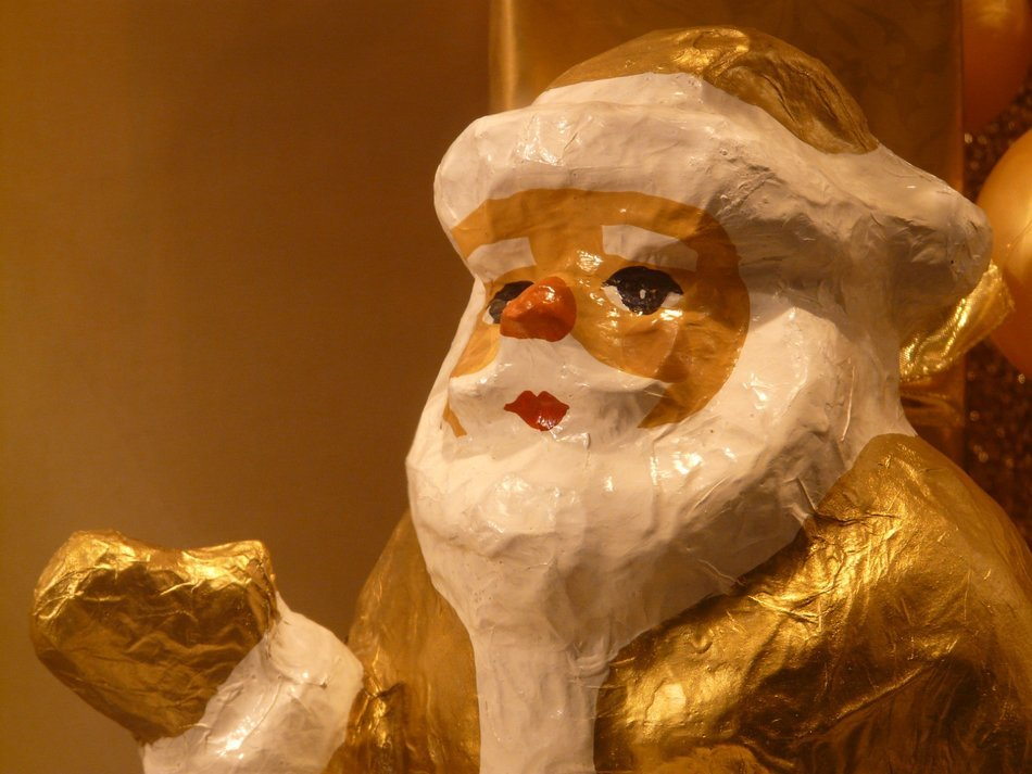 The top of the Santa Claus figure
