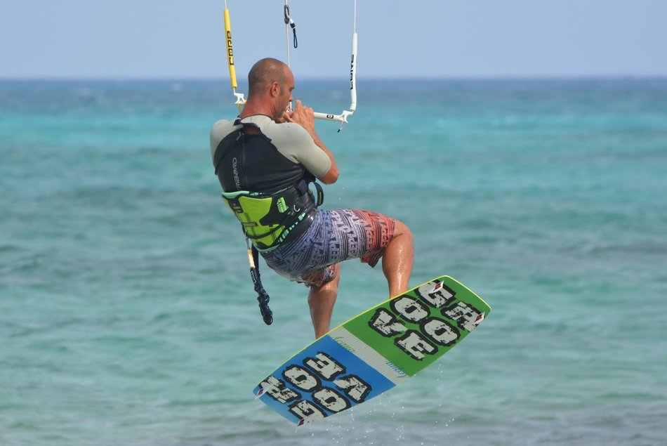 surf kite surfing man