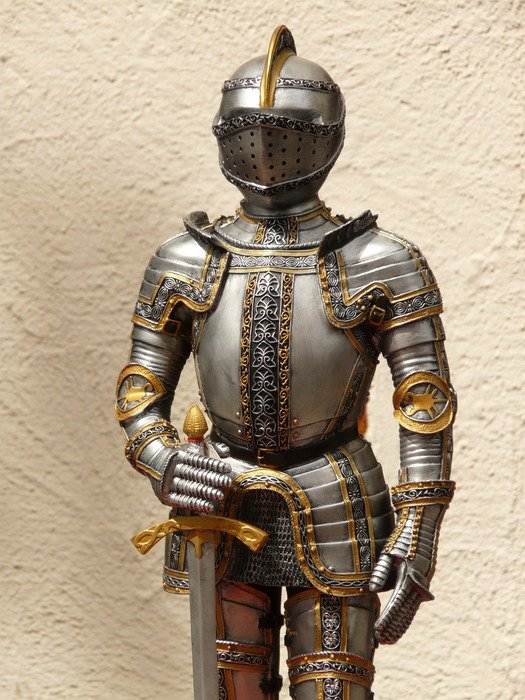 Medieval armor of a knight