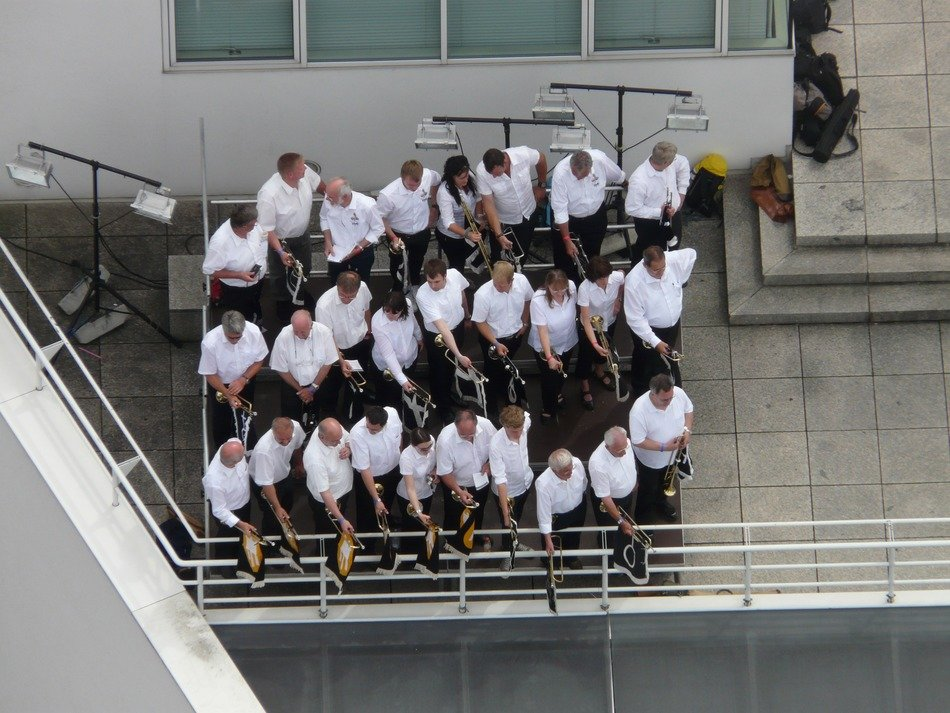 Top view of the trumpeters