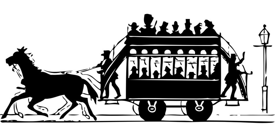 drawing of historic horse cart