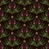 Seamless pattern graphic ornament Floral background N4