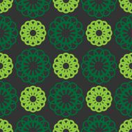 Abstract seamless pattern green color N2