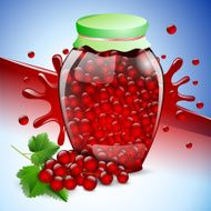 bank red currant jam berry fruit food