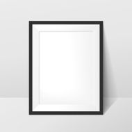 elegant blank photo frame