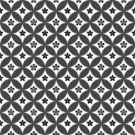 Black and White Vector Flower Pattern N2