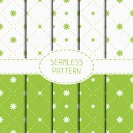 Floral seamless flowers pattern set Wrapping paper Scrapbook paper