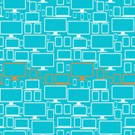 Seamless pattern with electronic devices
