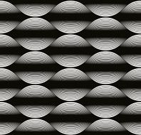 Wave lines seamless pattern abstract geometric black and white