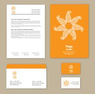 Template corporate style with a round ornament N5