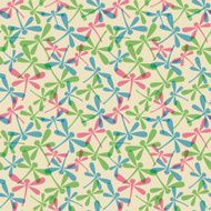 seamless pattern with dragonflies N7