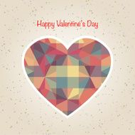 abstract valentine's day retro geometric pattern N3