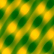 Abstract Wave Pattern Yellow Green Background Blurred Decorative Illustration Texture