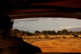 View from the truck on a safari in Kenya, Africa