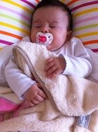 sleeping baby newborn girl child