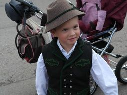 boy in the bavarian costume