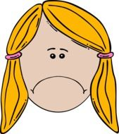 clipart of a girl with yellow hair