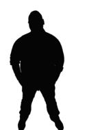 black silhouette of man adult
