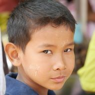 closeup asian child
