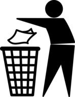 man throwing trash rubbish cleanup