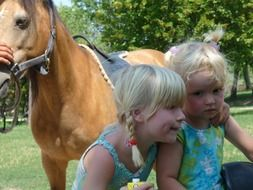 brothers and sisters horse children