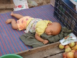myanmar sleep baby sleepy child