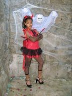 girl halloween ghost devil costume