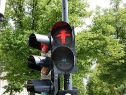Traffic lights in street