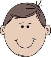 Happy male with the brown hair clipart
