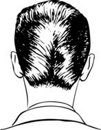 black and white graphic image of a man\'s stylish nape