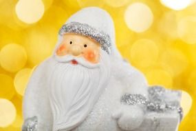 Santa Claus on the yellow background