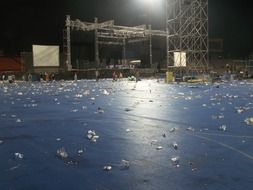 stadium after music concert