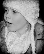 child face in winter