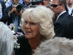 Duchess Camilla among the people