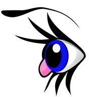 animation blue eye