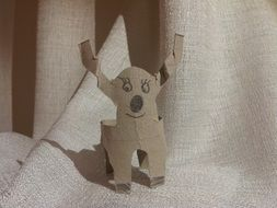 funny paper dog